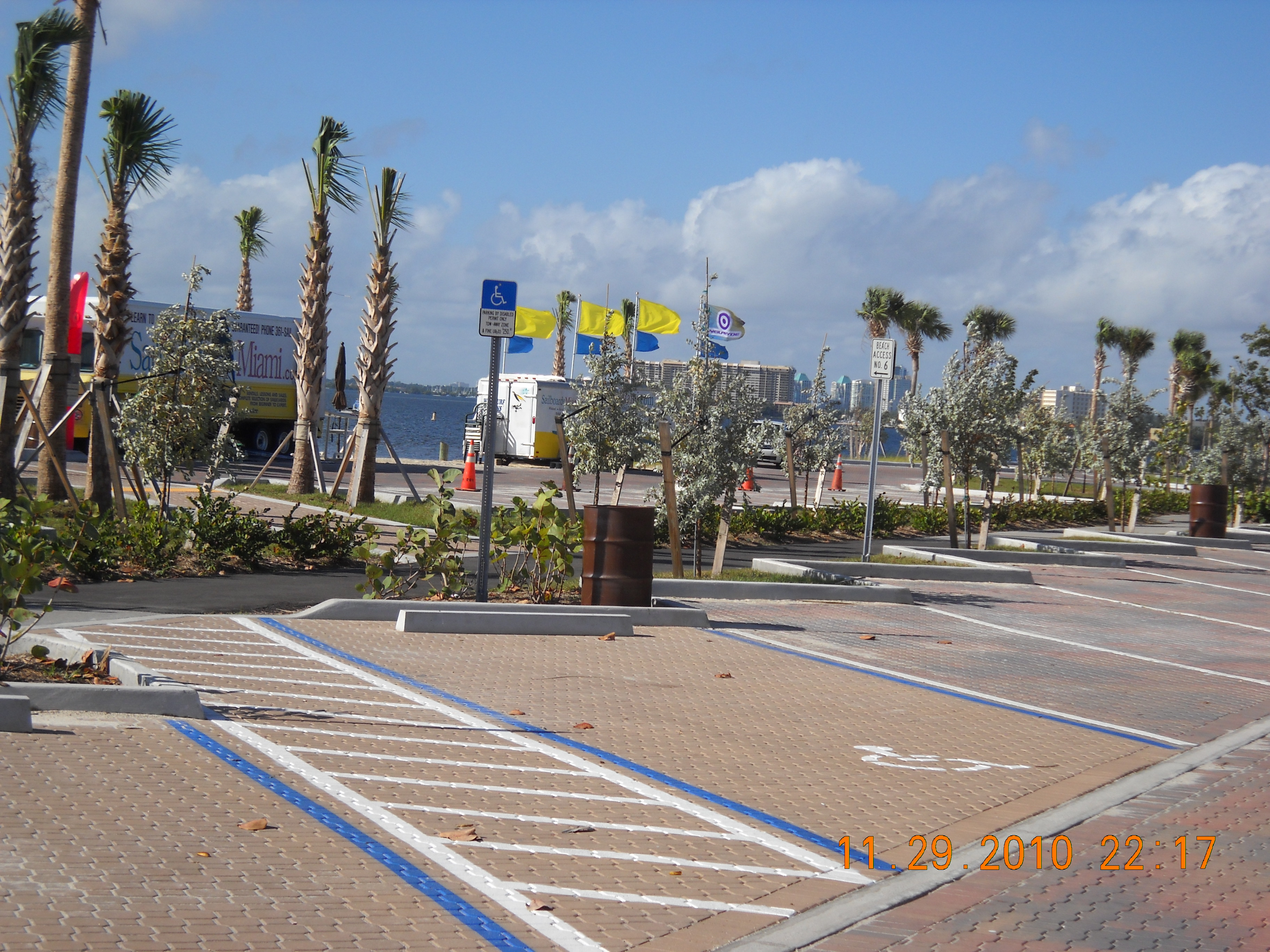 Completed parking near concessions at Rickenbacker project