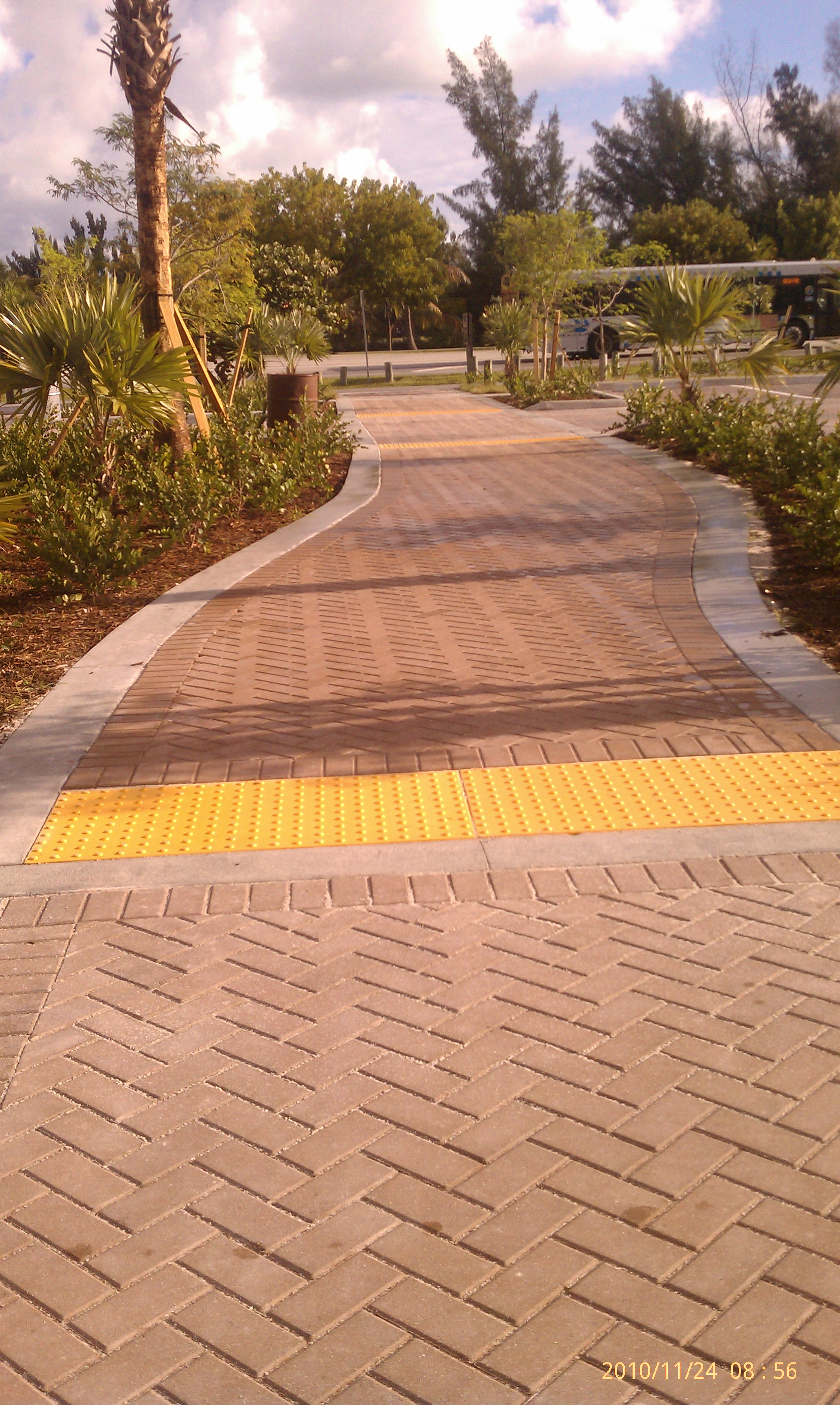 Paver walkways and landscaping at Rickenbacker project