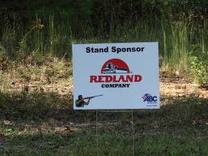 Redland Company Station sponsor & Title Sponsor at ABC GA Fall Clays 2014