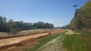 Redland trimming at NCDOT Monroe Connector/Bypass