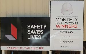 Monthly Safety Recognition by Juneau Construction at Palisades in Atlanta, GA